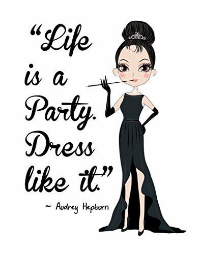 Pop Art Print ~ Audrey Hepburn Beauty/Fashion Quote: