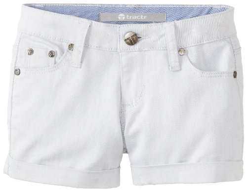 Tractr Girls 7-16 Soft Color 3 Inch Shorts, Blue, 8