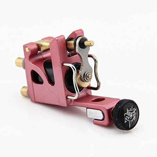 Rotary Tattoo Machine Pink Alu Alloy Mini Motor Tattoo Gun Brass Bar Liner Shader Beauty Body Care