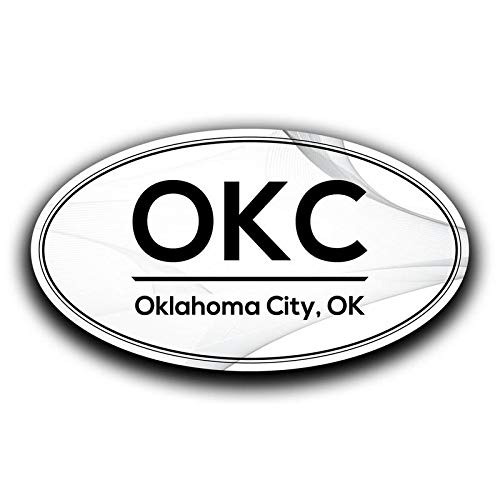 More Shiz OKC Oklahoma City Airport Code Decal Sticker Home Travel Car Truck Van Bumper Window Laptop Cup Wall MKS0600 Two 5.5 Inch Decals