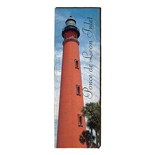 Ponce De Leon Inlet Lighthouse Home Decor Art Print on Real Wood (9.5