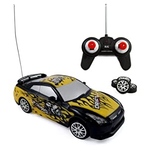 Liberty Imports Super Fast Drift Champion R/C Sports Car Remote Control Drifting Race Car 1:24 + Headlights, Backlights, Side Lights + 2 Sets of Tires