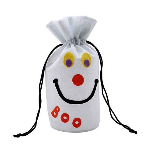 STORE-HOMER - Halloween Style Festival Pumpkin Black Smile Face White Ghost Beam Port Packing Drawstring Bags Candy Gift Bags Pouches -