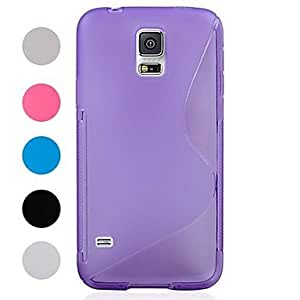 S-Shaped TPU Model Case for Samsung Galaxy S5 I9600 (Assorted Colors),Rose