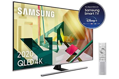 SAMSUNG QLED 4K 2020 75Q75T – Smart TV de 75″ con Resolución 4K UHD, Inteligencia Artificial 4K, HDR 10+, Multi View, Ambient Mode+, Premium One Remote y Asistentes de Voz integrados (Alexa)