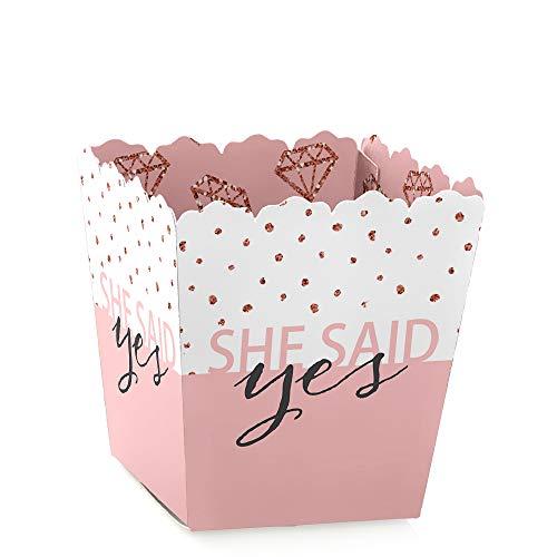 Bride Squad - Party Mini Favor Boxes - Rose Gold Bridal Shower or Bachelorette Party Treat Candy Boxes - Set of 12 ()