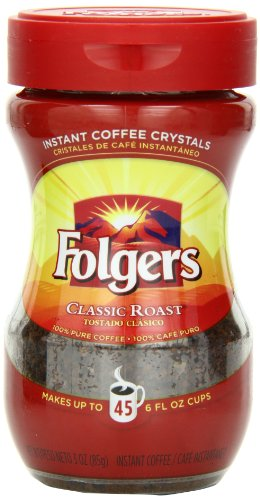 Folgers Classic Roast Instant Coffee, 3 Ounce