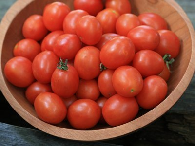 David's Garden Seeds Tomato Cherry Principe Borghese EB157HG (Red) 25 Organic Heirloom Seeds