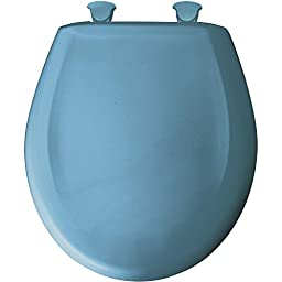 Bemis 200SLOWT 144 Slow Close Sta-Tite Round Closed Front Toilet Seat, New Orleans Blue