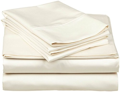 Linenwala 100% Percale Cotton 4 PC Sheet Set Ultra Soft & Cozy Bedding Sheets 15