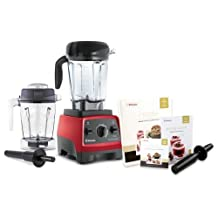 Vitamix CIA Professional Series 300 Ruby Red Blender With 64 Ounce Wet Container and 48 Ounce Wet Container by Vitamix