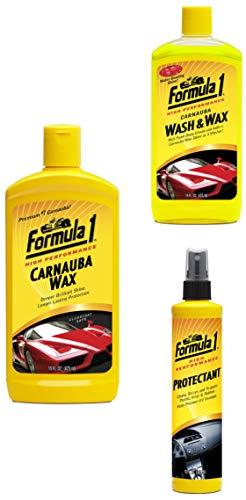 Formula 1 New Car Protection Kit  Liquid Wax 473ml, Wash  amp; Wax 473ml, Protectant 295ml