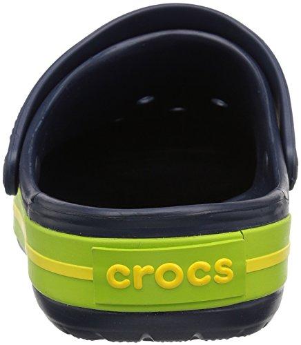 crocs Unisex-Erwachsene Crocband Clogs Blau (Navy/Volt Green/Lemon)