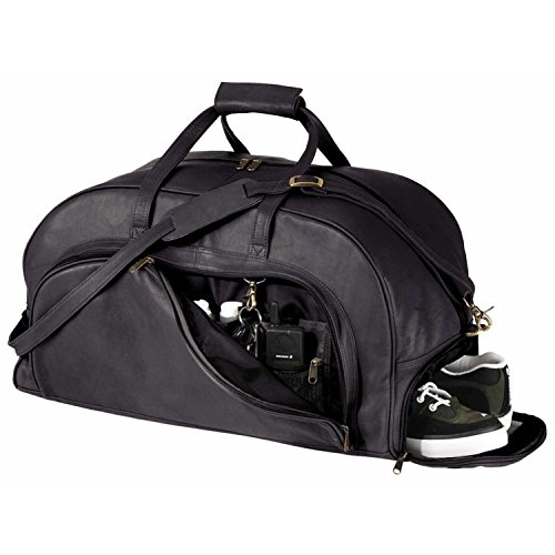 royce-leather-organizer-duffel-bag-with-shoe-compartment-black