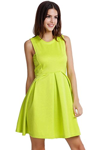 [ACHICGIRL Women's Easy Sleeveless A-line Dress] (Neon Party Dresses)