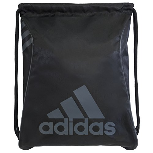 adidas Burst Sackpack, Black/Onix, 18 x 14.25-Inch (Drawstring Bag)