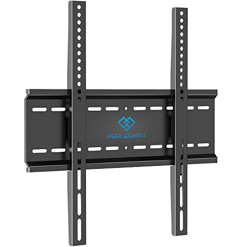 PERLESMITH Fixed TV Wall Mount Bracket with Low Profile Design for Most 26-47 Inch LED, LCD, OLED, Plasma Flat Screen TVs - Ultra Slim Fix Mounting Bracket with Max VESA 400x400mm Weight up to 115lbs (Slim Tv Mounts For Flat Screens)
