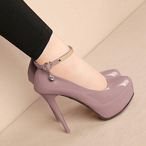 Negro de celosía los de mujer amarre un solo zapatos impermeable solo Solo mujer impermeables que con con eran zapatos ranurado zapatos URCzHwx
