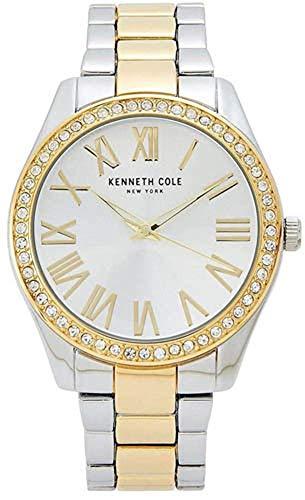 Kenneth Cole New York Women's Silver Dial Two-Tone Bracelet Watch KC50664006