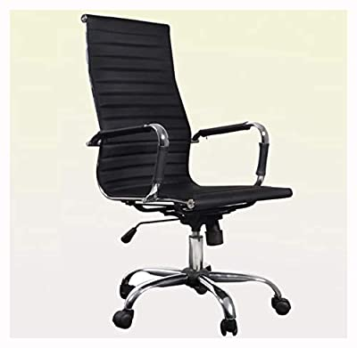 K&A Company Office Chair, Black Leather Office Chair High Back