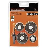 BLACK + DECKER 71-120 Surtido de sierras perforadoras, 5 piezas