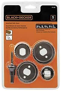 BLACK+DECKER 71-120 Hole Saw Assortment, 5-Piece
