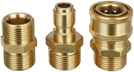 3 piezas M22 a 3/8 Quick-Connect tuberías de lavadora de presión ...
