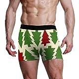 ANJISY Men's Underwear Boxer Briefs Christmas Trees Customised Breathable Lightweight