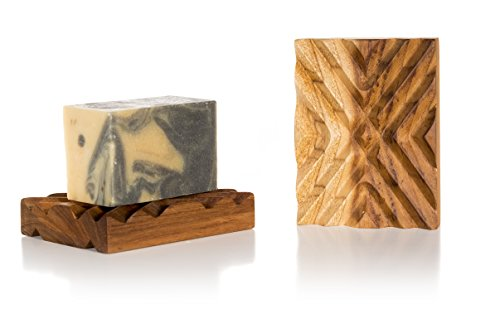 Stone City Farm Natural Soap Dish | Premium Teak Soap Dish Crisscross | Handcrafted of Teak Wood by Stone City Farm (Image #1)