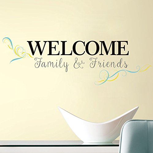 Welcome Family & Friends Queto Wall Decals Stickers Home Decor