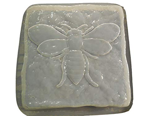 (Stone Look Bumble Bee Stepping Stone Concrete or Plaster Mold 1328)