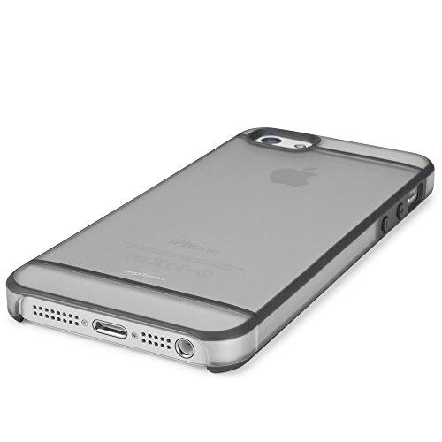 Coque Iphone se, BoxWave® [Valence Étui] deux ton rigide Shell Housse Coque W/SE, bords renforcés pour Apple iPhone 5S, 5–Gris