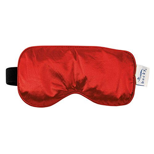 Bucky Serenity Meditation Compression Hot/Cold Therapy Buckwheat Seed Eye Mask, Red, 0.15 Pound