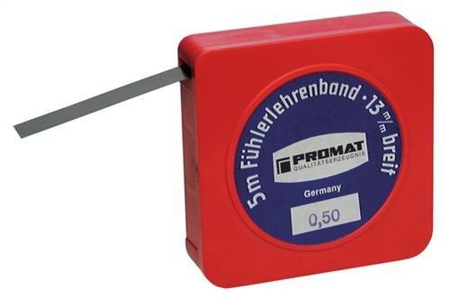 PROMAT 851441 Fü hlerlehrenband Gauge 0,02 mm PROMAT I. Plastikdose B, 13mmxl .5 m 02mm PROMAT I. Plastikdose B 13mmxl .5m KAYSER GmbH 4000851441