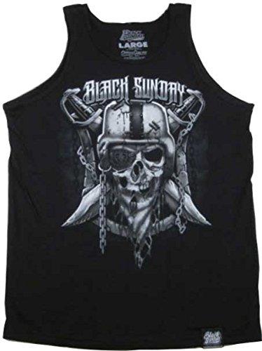 b57d4e54 Black Sunday Raiders Tank Top Black (Medium) at Amazon Men's ...