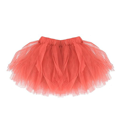 Dance Recital Costumes 2016 (Leoy88 Baby Girls Classic Elastic Pleated Tulle Tutu Skirt Fluffy Petticoat For Party Ballet Dance (One Size, Watermelon))