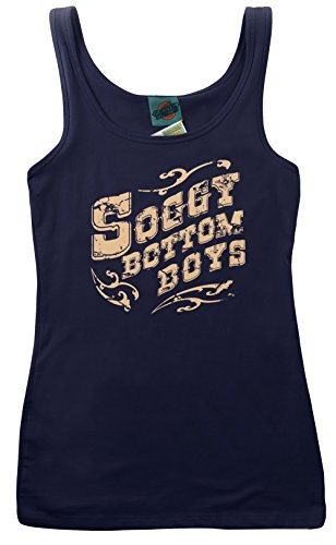 BathroomWall O Brother Where Art Thou Inspired Soggy Bottom Boys, Women's Vest, Large, Navy Blue