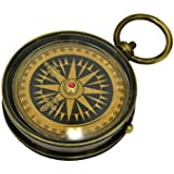 Brass Pocket Compass - Nautical Mariner Compass With Floating Dial by The New Antique Store