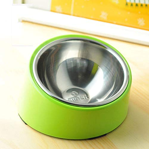 Apple green 7.5x13x17cm Apple green 7.5x13x17cm ZUOZUOZUO Inclined Bowl Method Bucket Tilt Bowl Dog Rice Bowl High Dog Pot Jiafei Flat Face Cat Bowl Dog Food Bowl Small And Medium Apple Green 7.5X13X17Cm