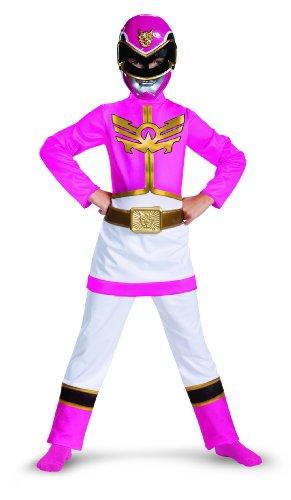Disguise Power Rangers Megaforce Pink Ranger Girl's Classic Costume, (Pink Megaforce Ranger Costume)