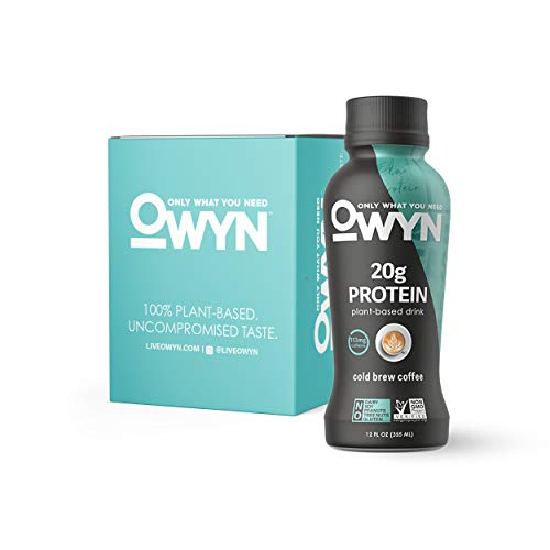 OWYN, Vegan Protein Shake, Cold Brew Coffee,12 Fl Oz (Pack of 4), 100-Percent Plant-Based, Dairy-Free, Gluten-Free, Soy-Free, Tree Nut-Free, Egg-Free, Allergy-Free, Vegetarian, Kosher