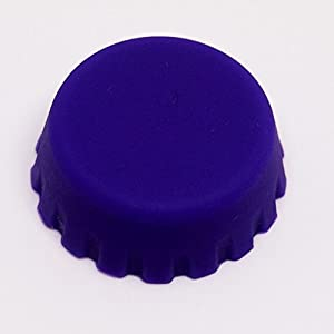 Silicone Bottle Caps for Beer and Soda Pop Set of 12 Caps Purple and Yellow by Sir Pent Trading