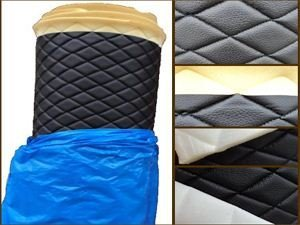 1-x-vinyl-quilted-black-fabric-w-3-8-foam-backing-upholstery-by-the-yard