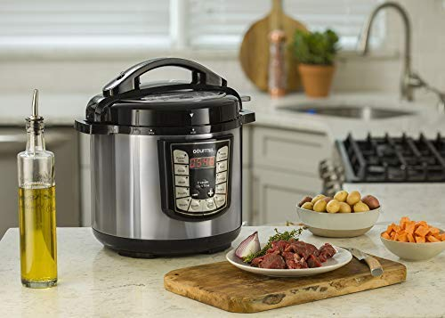 Gourmia 6 Multi-Mode | 13 Modes | Removable Nonstick Pot | 24-Hour Timer | Warm | Pressure Sensor Lock | Free Recipe Book