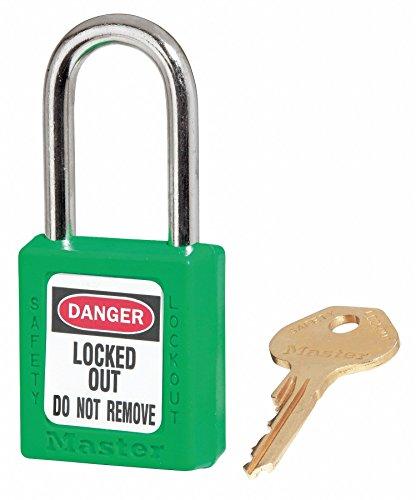 - Lockout Padlock, KD, Green, 1/4In. Dia.