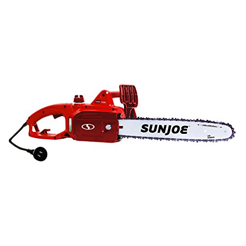 Sun Joe SWJ699E-RED 14 inch 9.0 Amp Electric Chain Saw, Red