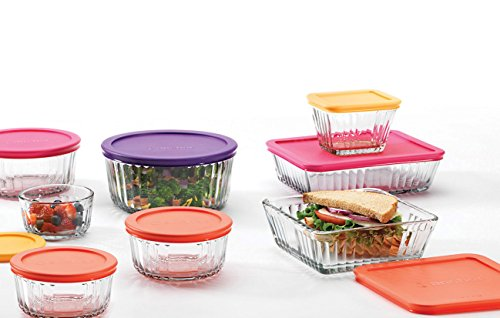 Anchor Hocking Embossed Containers 16 Piece