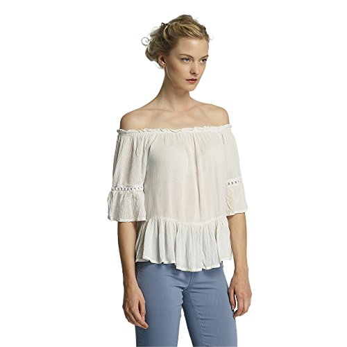 Only Mujeres Ropa superior / Blusa / Túnica onlBingo Off Shoulder Peplum blanco