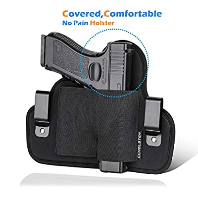 Comfortable IWB Holster | Raised Space Ensure Quick Draw in Emergency | Elastic Gun Holster Always Fits Your Pistols, Available in Right Hand Draw, Black