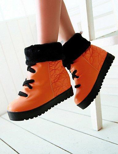 Talon Bas Xzz Décontracté Black Uk6 Orange Eu39 Blanc us8 Bureau Arrondi Chaussures Cn39 Femme Noir amp; Travail Habillé Bout Fermé Jaune r7rPqA